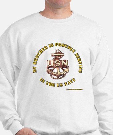 Navy gold Brother Sweatshirt
