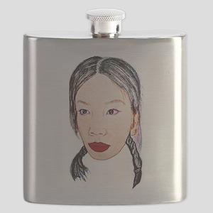Asian beauty lady woman girl Flask