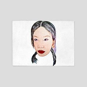 Asian beauty lady woman girl 5'x7'Area Rug