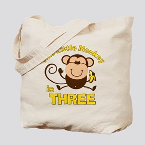 Little Monkey 3rd Birthday Boy Tote Bag