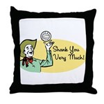 Shank You Very Much! Throw Pillow