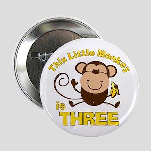 "Little Monkey 3rd Birthday Boy 2.25"" Button"