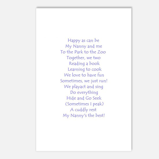 A POEM FOR NANNY Postcards (Package of 8)