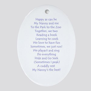 A POEM FOR NANNY Oval Ornament