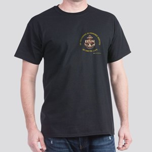 Navy Gold Grandson Dark T-Shirt