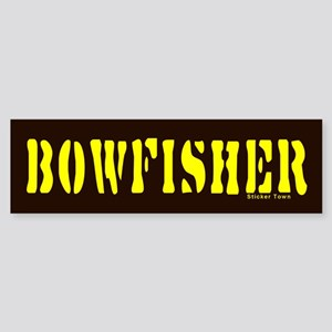 BOWFISHER Bumper Sticker