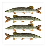 Northern Pike Square Car Magnet 3
