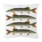 Northern Pike Woven Throw Pillow