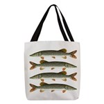 Northern Pike Polyester Tote Bag