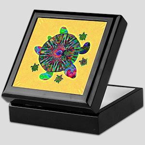 Colorful Sea Turtle Keepsake Box