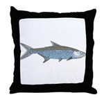 Line Art abstract Tarpon Throw Pillow