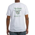 Colossians 3:2 (b&p) Fitted T-Shirt