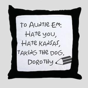 Dear Auntie Em Throw Pillow
