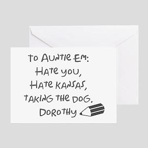 Dear Auntie Em Greeting Card