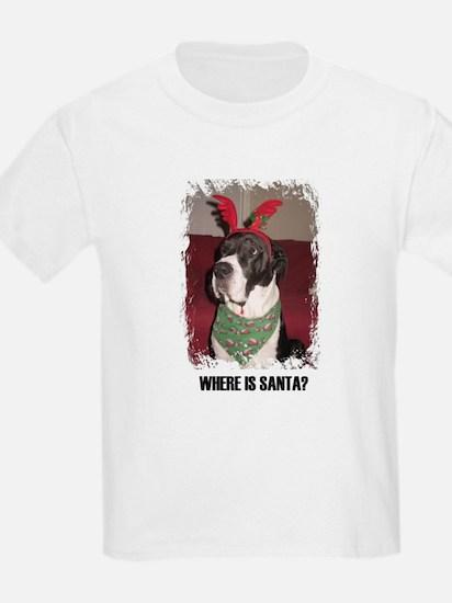 WHERES SANTA? GREAT DANE  Kids T-Shirt