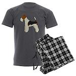 Wire Fox Terrier Men's Charcoal Pajamas