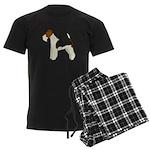 Wire Fox Terrier Men's Dark Pajamas