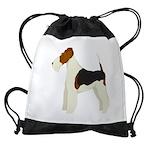 Wire Fox Terrier Drawstring Bag