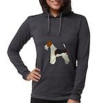 Wire Fox Terrier Womens Hooded Shirt