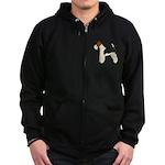 Wire Fox Terrier Zip Hoodie (dark)