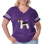 Wire Fox Terrie Women's Plus Size Football T-Shirt