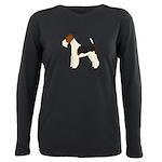 Wire Fox Terrier Plus Size Long Sleeve Tee