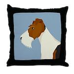 Wire Fox Terrier Throw Pillow