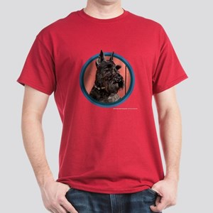 Black Miniature Schnauzer Art Dark T-Shirt
