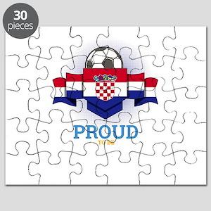 Football Croats Croatia Soccer Team Sports Puzzle