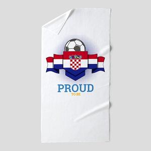 Football Croats Croatia Soccer Team Sp Beach Towel