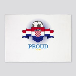 Football Croats Croatia Soccer Team 5'x7'Area Rug