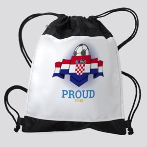 Football Croats Croatia Soccer Team Drawstring Bag