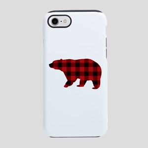 lumberjack buffalo plaid Bear iPhone 7 Tough Case