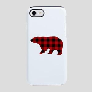 lumberjack buffalo plaid Bear iPhone 7 Tough Case