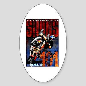 Bill D Stunts101 Oval Sticker