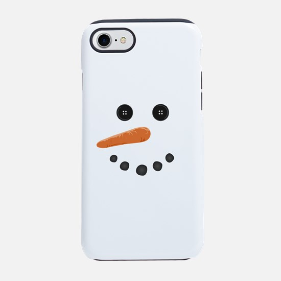 happy holiday funny Snowman iPhone 7 Tough Case