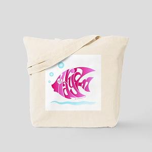 Maryam ( Pink Fish) Tote Bag
