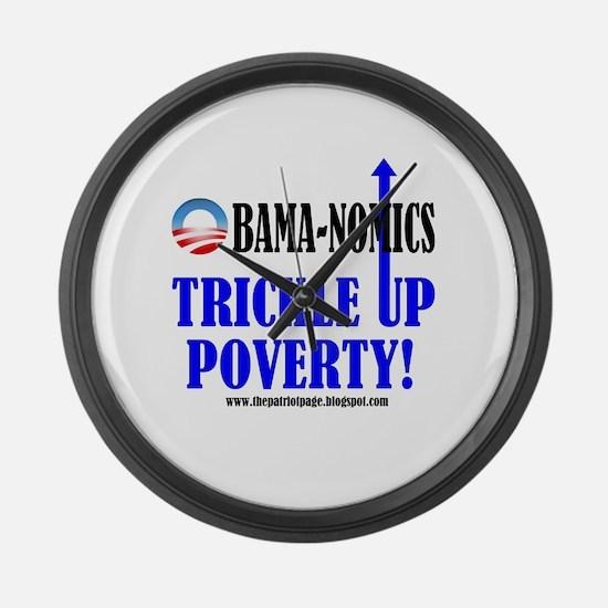 Obama-nomics Large Wall Clock