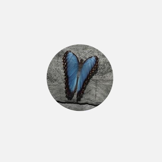 Blue Butterfly Mini Button