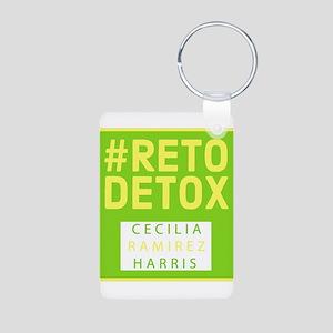 Reto Detox Aluminum Photo Keychain