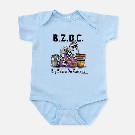 Big Zebra on Campus Infant Bodysuit