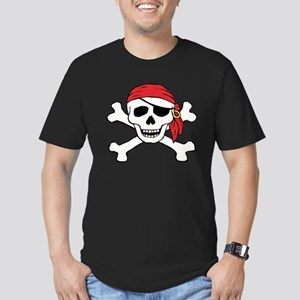 Funny Pirate Men's Fitted T-Shirt (dark)