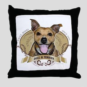 Bull & Terrier Brewing Throw Pillow