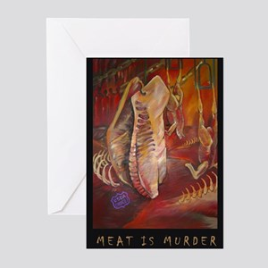 Meat is Murder Greeting Cards (Pk of 10)