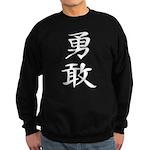 Bravery - Kanji Symbol Sweatshirt (dark)