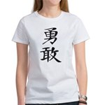 Bravery - Kanji Symbol Women's T-Shirt