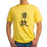 Bravery - Kanji Symbol Yellow T-Shirt