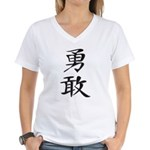 Bravery - Kanji Symbol Women's V-Neck T-Shirt