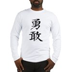 Bravery - Kanji Symbol Long Sleeve T-Shirt