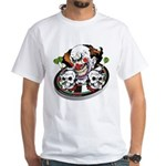 Evil Clown White T-Shirt